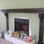 Alder Mantel Being Installed